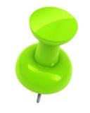 Goupille verte de poussée Images libres de droits