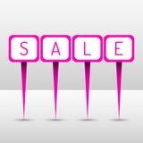 Goupilles au néon de vente Photo stock