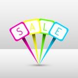 Goupilles au néon de vente Photographie stock libre de droits
