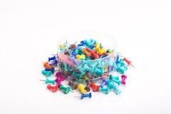 goupilles colorées de poussée réglées Image stock