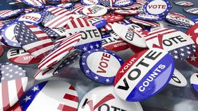 Goupilles d'élection des USA illustration stock