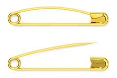 Goupilles de sécurité d'or, rendu 3D illustration libre de droits