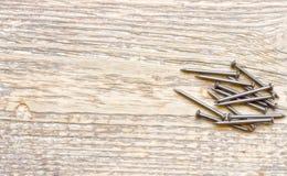 Goupilles sur le bois Photo stock