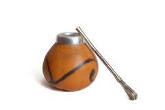 Gourd com palha de aço Foto de Stock
