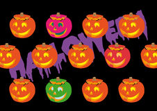 Gourd halloween Stock Image