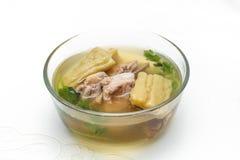 Gourd soup with pork bones Stock Photos