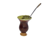 Gourd With Yerba-mate Stock Photos