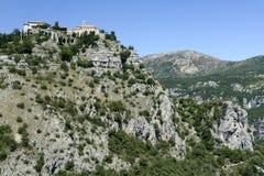 法国南gourdon的修道院 免版税图库摄影