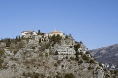 Gourdon in French riviera Stock Images