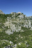 Gourdon monastery alps south of france Royalty Free Stock Images