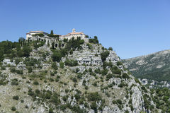 Gourdon monastery alps south of france Stock Photo