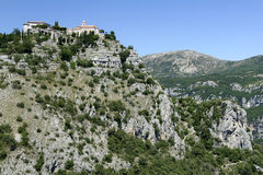 Gourdon monastery alps south of france Royalty Free Stock Photography