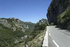 Gourdon monastery mountain road france Royalty Free Stock Image