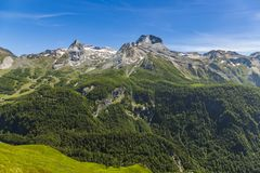 Gourette w Francuskich Pyrenees Fotografia Stock