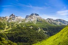 Gourette w Francuskich Pyrenees Obrazy Royalty Free
