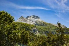 Gourette w Francuskich Pyrenees Obraz Stock