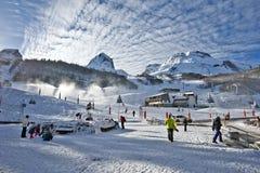 Gourette winter sport resort in Bearn Pyrenees Stock Image