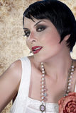 Gourgeos female brunette flapper Stock Image