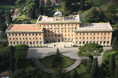 A gourgeos palace inside the vatican in Rome Royalty Free Stock Photos