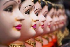 Gouri o Gauri, dea Durga, decorazione, Pune, maharashtra, India della divinità indù fotografia stock libera da diritti