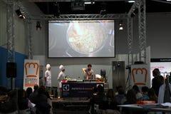 GourmArte - Bergamo Fair, Italy 2017. GOURMARTE - Bergamo - The art of Lombard cuisine and its gastronomic tradition meet in Bergamo for three days of tastings stock photos