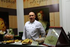GourmArte - Bergamo Fair, Italy 2017. GOURMARTE - Bergamo - The art of Lombard cuisine and its gastronomic tradition meet in Bergamo for three days of tastings royalty free stock photos