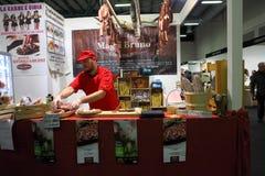 GourmArte - Bergamo Fair, Italy 2017. GOURMARTE - Bergamo - The art of Lombard cuisine and its gastronomic tradition meet in Bergamo for three days of tastings royalty free stock photo