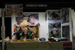 GourmArte - Bergamo Fair, Italy 2017. GOURMARTE - Bergamo - The art of Lombard cuisine and its gastronomic tradition meet in Bergamo for three days of tastings stock image