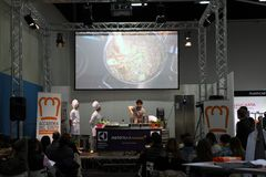 GourmArte - Bergamo mässa, Italien 2017 Arkivfoton
