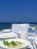 Gourme Lunch On Mediterranean Shore Stock Image