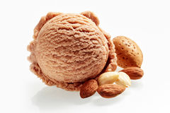 Gourmet almond Italian ice-cream Royalty Free Stock Images