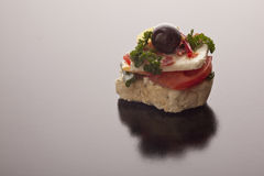 Gourmet appetizer with feta Royalty Free Stock Images