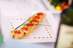 Gourmet appetizers Stock Photo
