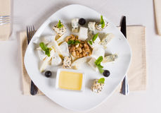 Gourmet appetizers with cashew nuts and sauce Royalty Free Stock Photography