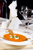 Gourmet Appetizing Food Served on the Table Royalty Free Stock Photography