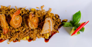 Gourmet Appetizing Rice Dish with Lemon Stock Photography