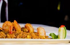 Gourmet Appetizing Rice Dish with Lemon Royalty Free Stock Photo