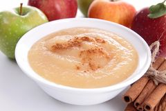 Gourmet- applesauce royaltyfri fotografi