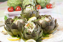 Gourmet artichoke hearts Royalty Free Stock Photo