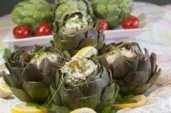 Gourmet artichoke hearts Stock Images