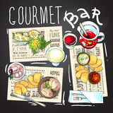 Gourmet bar illustration Stock Photo
