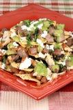 Gourmet beef nachos Stock Image