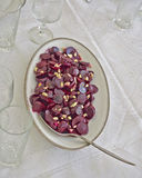 Gourmet beetroot salad with garlic Royalty Free Stock Photos