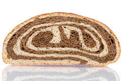 Gourmet bi-colour white and brown bread Royalty Free Stock Photo