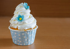 Gourmet birthday cupcakes with buttercream frosting Royalty Free Stock Photography
