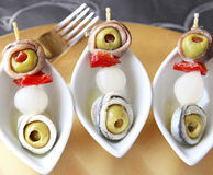 Gourmet brochette. Delicious gourmet brochette close up Stock Photography