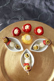 Gourmet brochette. Delicious gourmet brochette close up Royalty Free Stock Photography