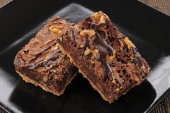 Gourmet brownies Royalty Free Stock Photo