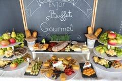 Gourmet- buffé med frukter Arkivbild