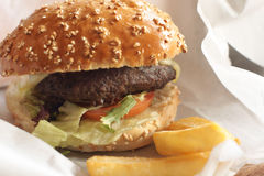 Gourmet burger Royalty Free Stock Images